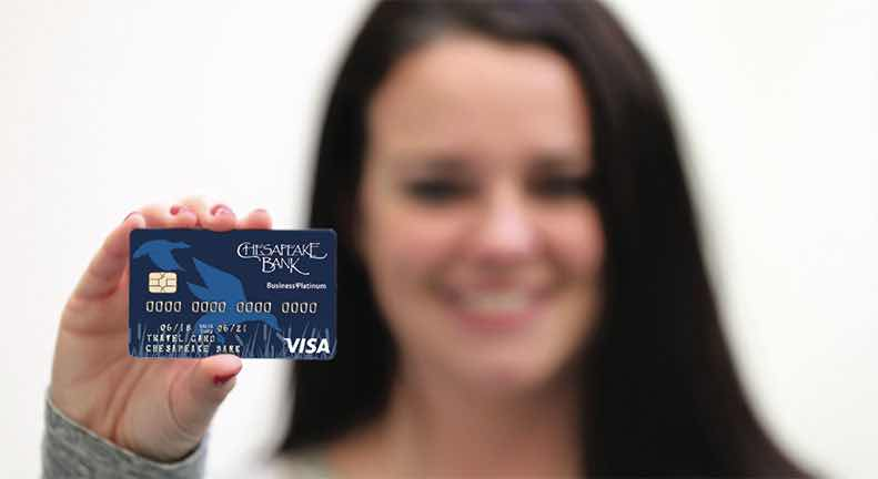 The first credit card designed just for Chesapeake Bank business customers